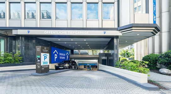 APCOA Köln Klapperhof Tiefgarage Außenansicht