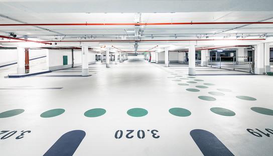 APCOA Köln Klapperhof Tiefgarage Innenansicht