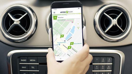 Park-App APCOA FLOW erleichtert End- und Businesskunden das Parken.
